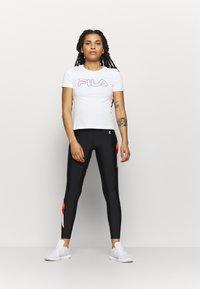 Fila - LADAN TEE - Print T-shirt - bright white - 1