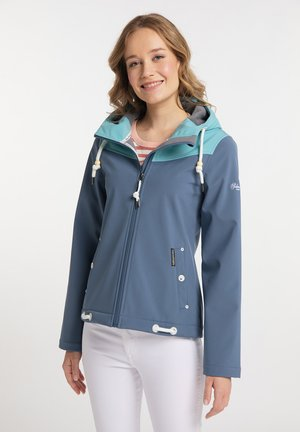 Soft shell jacket - graublau