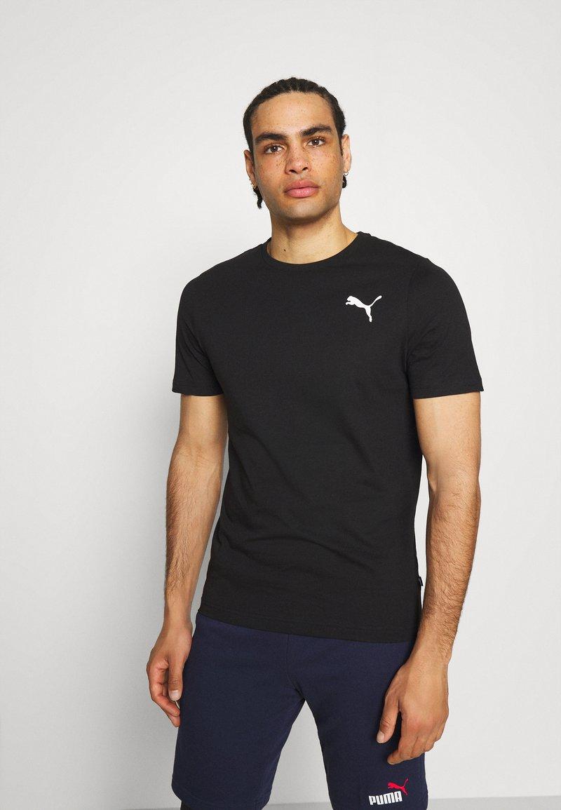 Puma - ESS SMALL LOGO TEE - Basic T-shirt - puma black cat