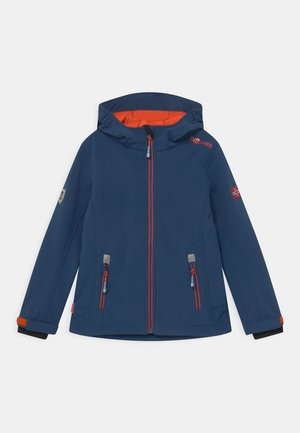 TROLLFJORD UNISEX - Soft shell jacket - mystic blue/orange