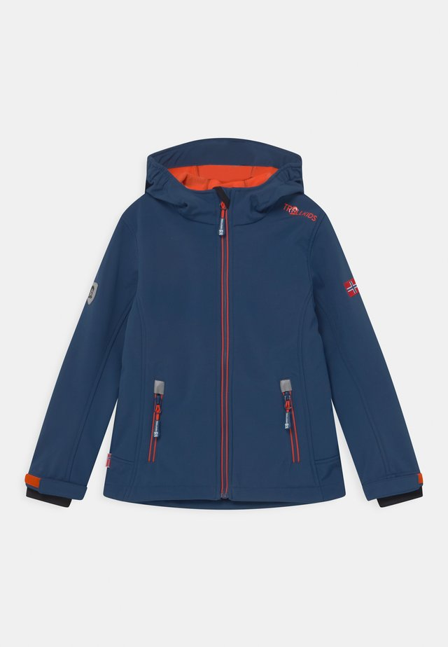 TROLLFJORD UNISEX - Softshelljas - mystic blue/orange