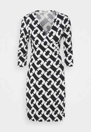 NEW JULIAN TWO - Sukienka z dżerseju - black/white