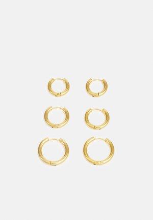TRIPLES HOOP 3 PACK - Kolczyki - gold-coloured