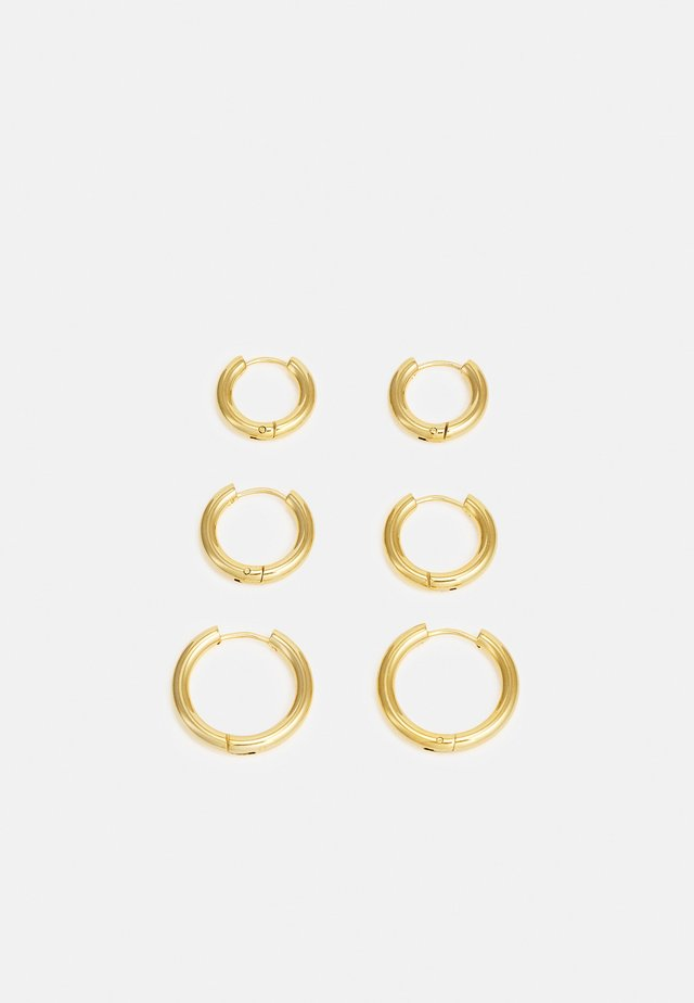 TRIPLES HOOP 3 PACK - Korvakorut - gold-coloured