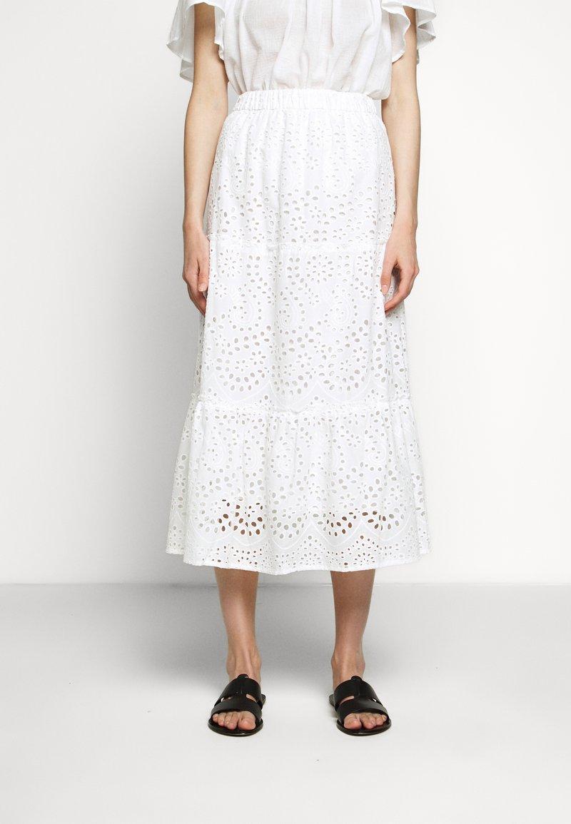 Bruuns Bazaar - ABELINA LAURANA SKIRT - A-line skirt - snow white