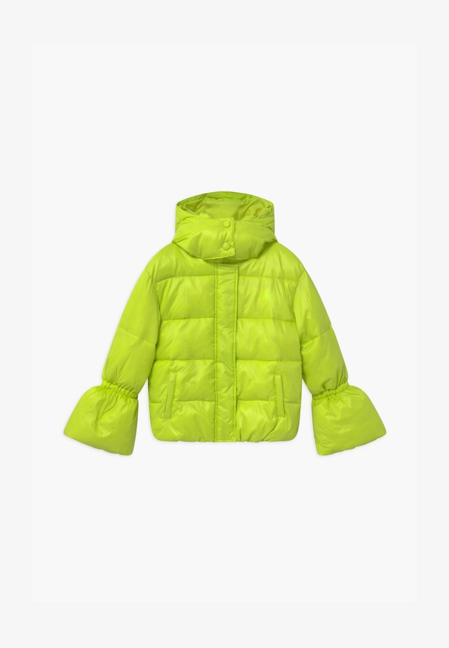 PIUMINO LOGO - Winter jacket - verde acido chiaro