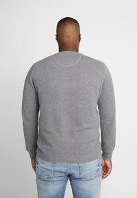 GANT - PLUS CREW - Stickad tröja - dark grey melange - 2