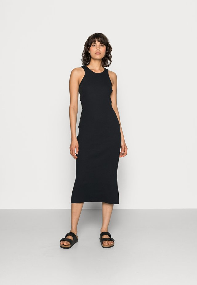 RANCHO TANK DRESS - Žerzejové šaty - black