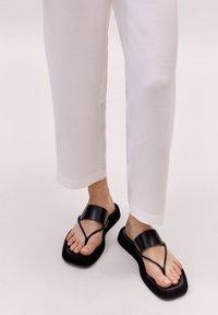 Massimo Dutti - LIMITED EDITION - T-bar sandals - black - 0