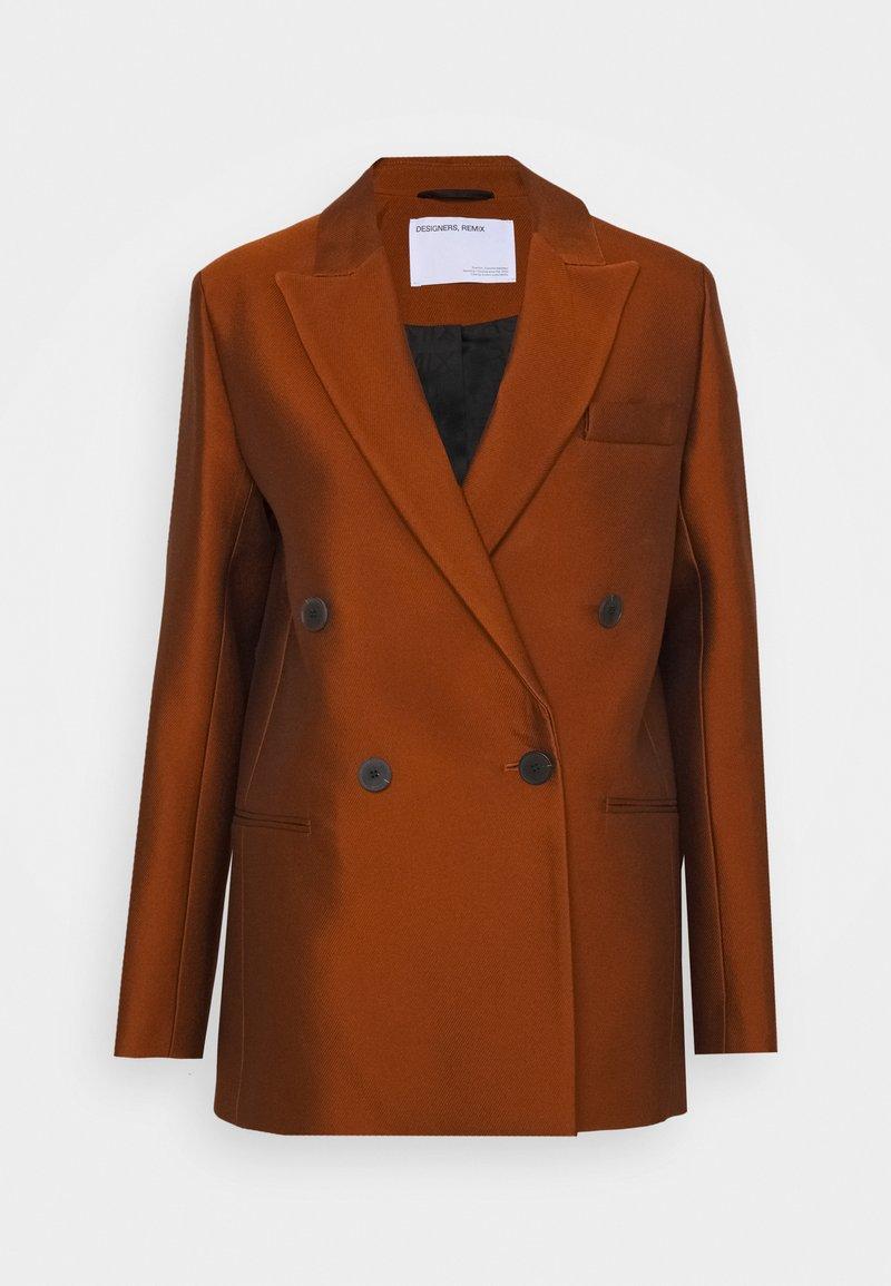 DESIGNERS REMIX - HAILEY - Short coat - mahogany