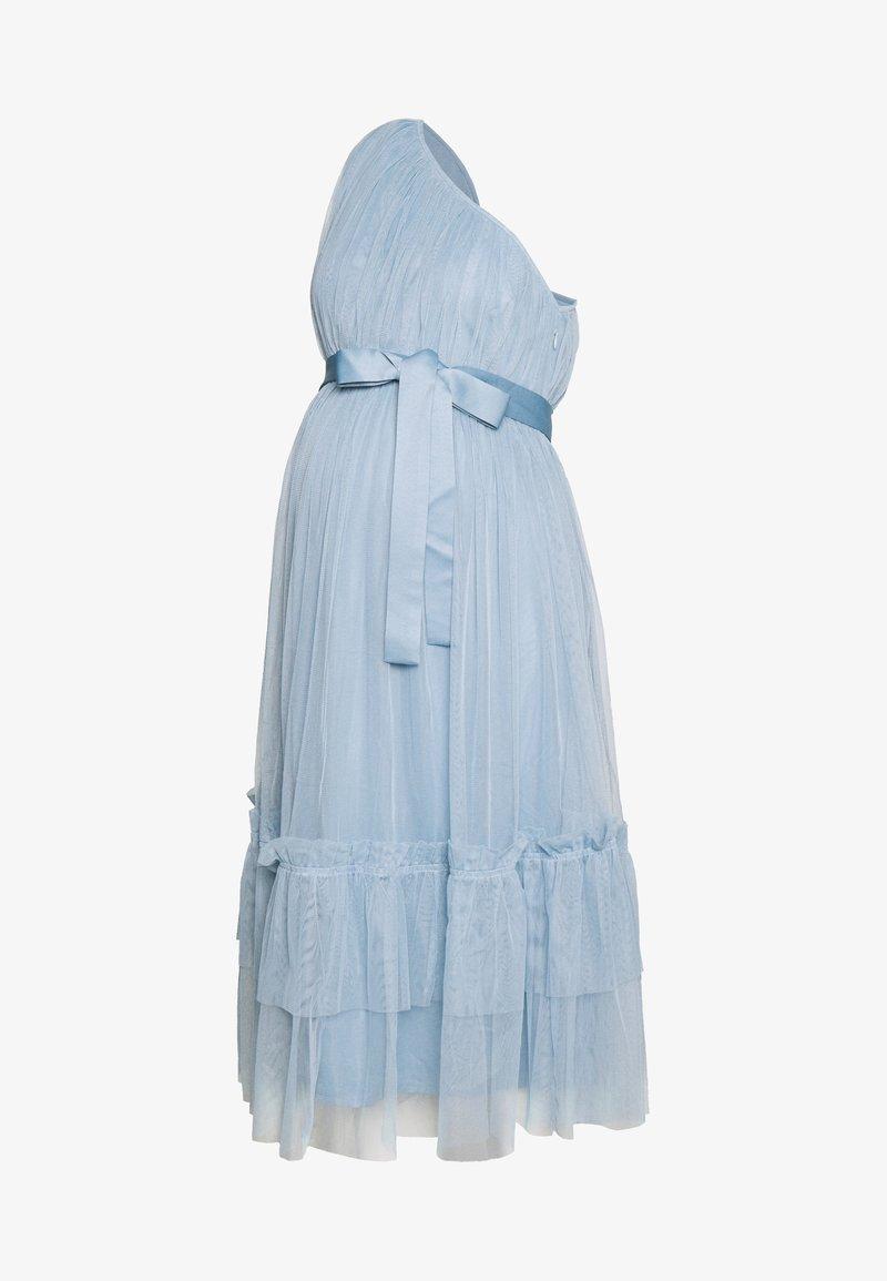 Anaya with love Maternity - ONE SHOULDER MIDI DRESS WITH RUFFLE DETAIL - Robe de soirée - cornflower blue