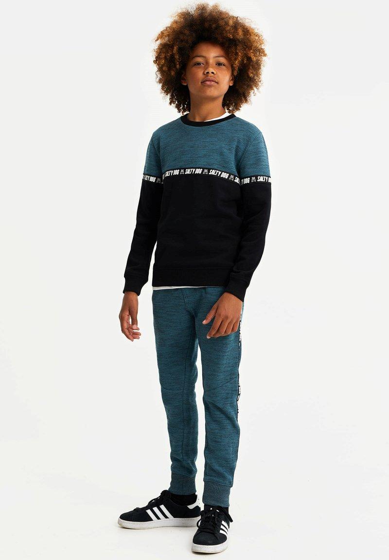 WE Fashion - SALTY DOG - Pantaloni sportivi - greyish blue