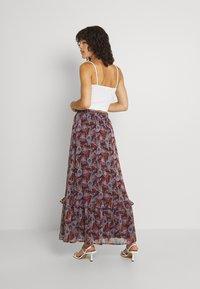 Vila - VIFALIA WIDE MAXI SKIRT - Maxi skirt - winetasting blue - 2