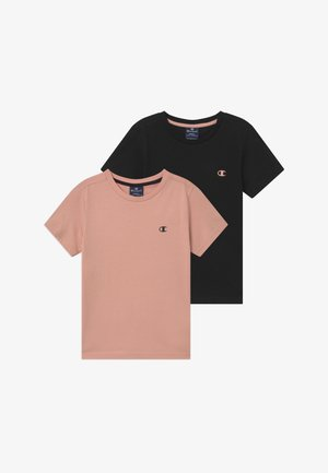 LEGACY BASICS CREW-NECK UNISEX 2 PACK  - T-shirts - light pink