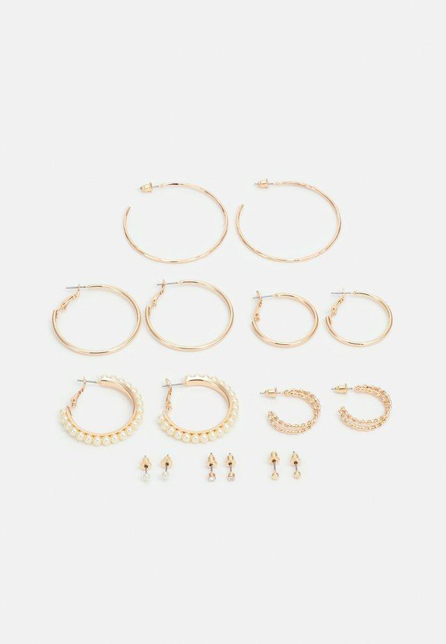 EARRINGS HOOP STUD 8 PACK - Korvakorut - gold-coloured