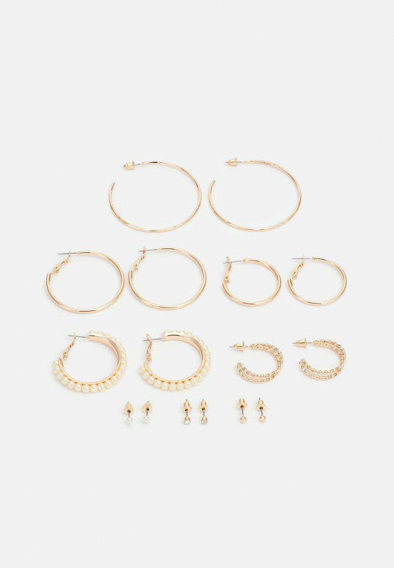 Lindex - EARRINGS HOOP STUD 8 PACK - Earrings - gold-coloured