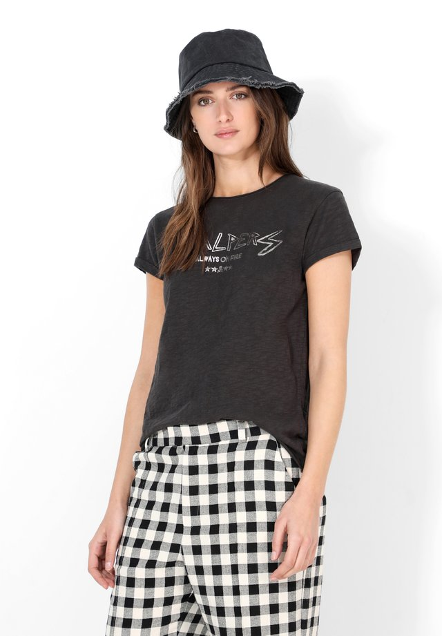 ON FIRE  - Print T-shirt - dark grey