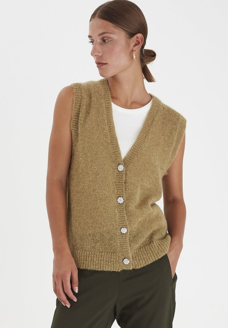 PULZ - PXIRIS SPECIAL FAIR OFFER - Cardigan - gothic olive