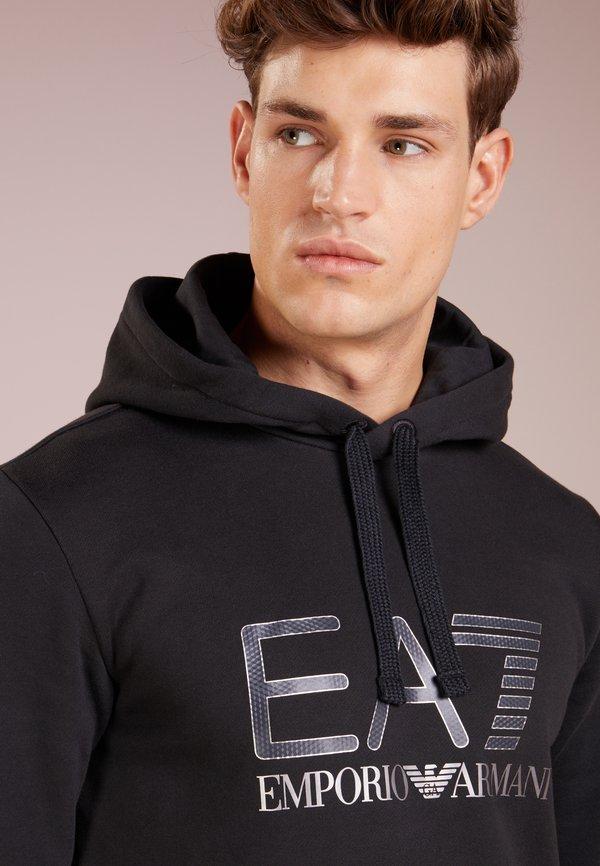 EA7 Emporio Armani Bluza z kapturem - black/czarny Odzież Męska WHON