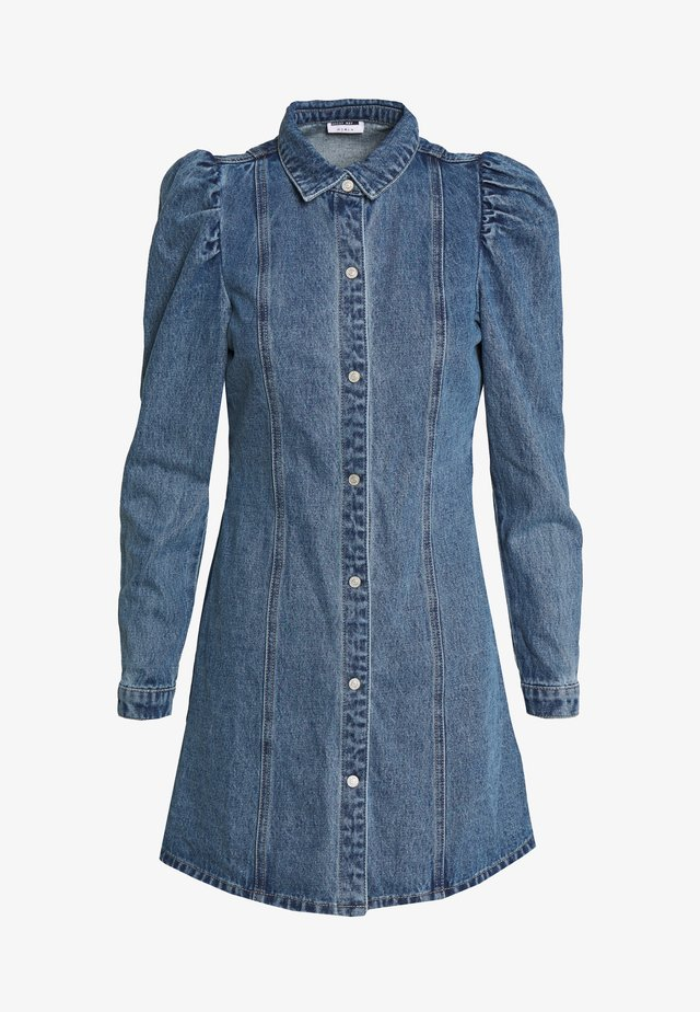 NMMARILLE PUFF DRESS - Dongerikjole - medium blue denim