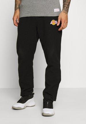 NBA LA LAKERS REVERSED TEARWAY PANT - Club wear - black