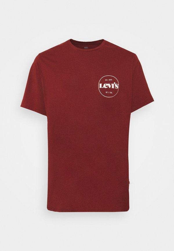 Levi's® Plus BIG GRAPHIC TEE 2 PACK - T-shirt z nadrukiem - madder brown/caviar/bordowy Odzież Męska QDLG