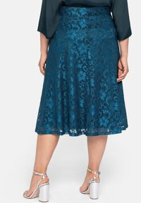 Sheego - A-line skirt - dunkelpetrol - 2