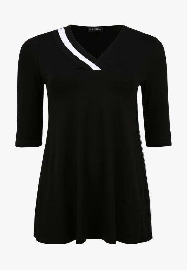 Tuniek - schwarz/weiß