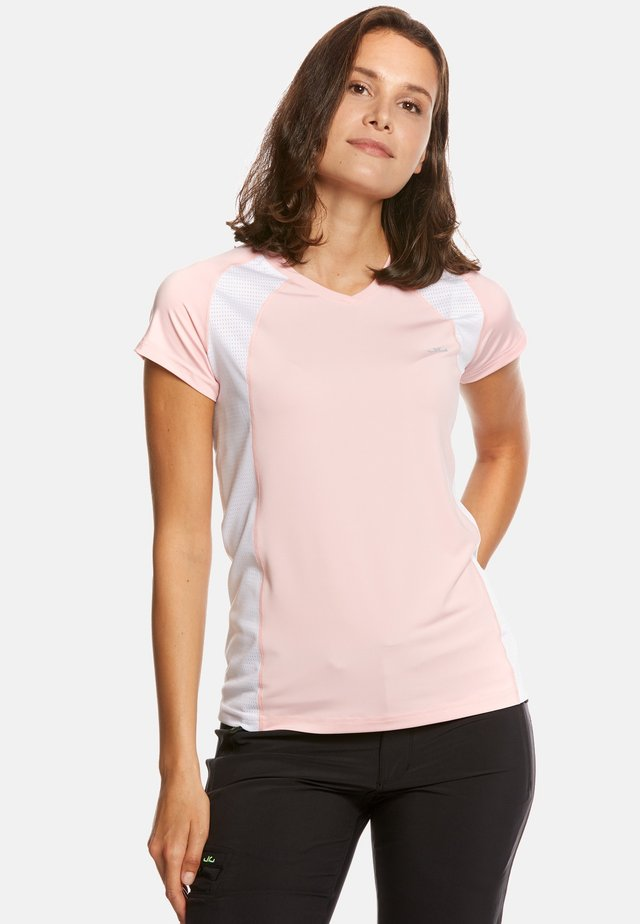 ELLA - T-shirt con stampa - rose/white
