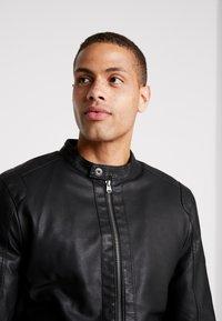 Tiffosi - EAGLE - Faux leather jacket - black - 3
