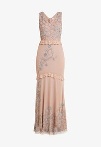 Maya Deluxe - V NECK MAXI DRESS WITH PLACEMENT EMBELLISHMENT AND DETAILING - Occasion wear - taupe blush - 6