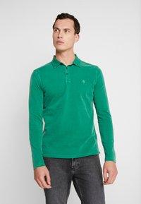 Marc O'Polo - LONG SLEEVE - Polo shirt - verdant green - 0