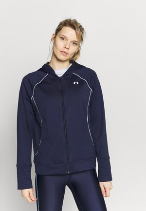 TRICOT JACKET - Huvtröja med dragkedja - midnight navy