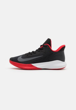 PRECISION 4 - Basketball shoes - black/dark grey/university red/white