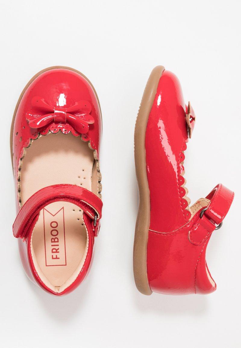 Friboo - Ballerinaskor med remmar - red