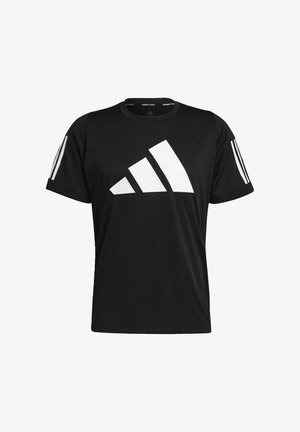 FL 3 BAR TEE - Print T-shirt - black