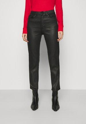 NEA COATED - Straight leg jeans - black