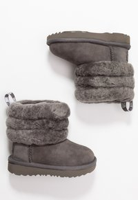 UGG - FLUFF MINI QUILTED - Bottines - charcoal - 0