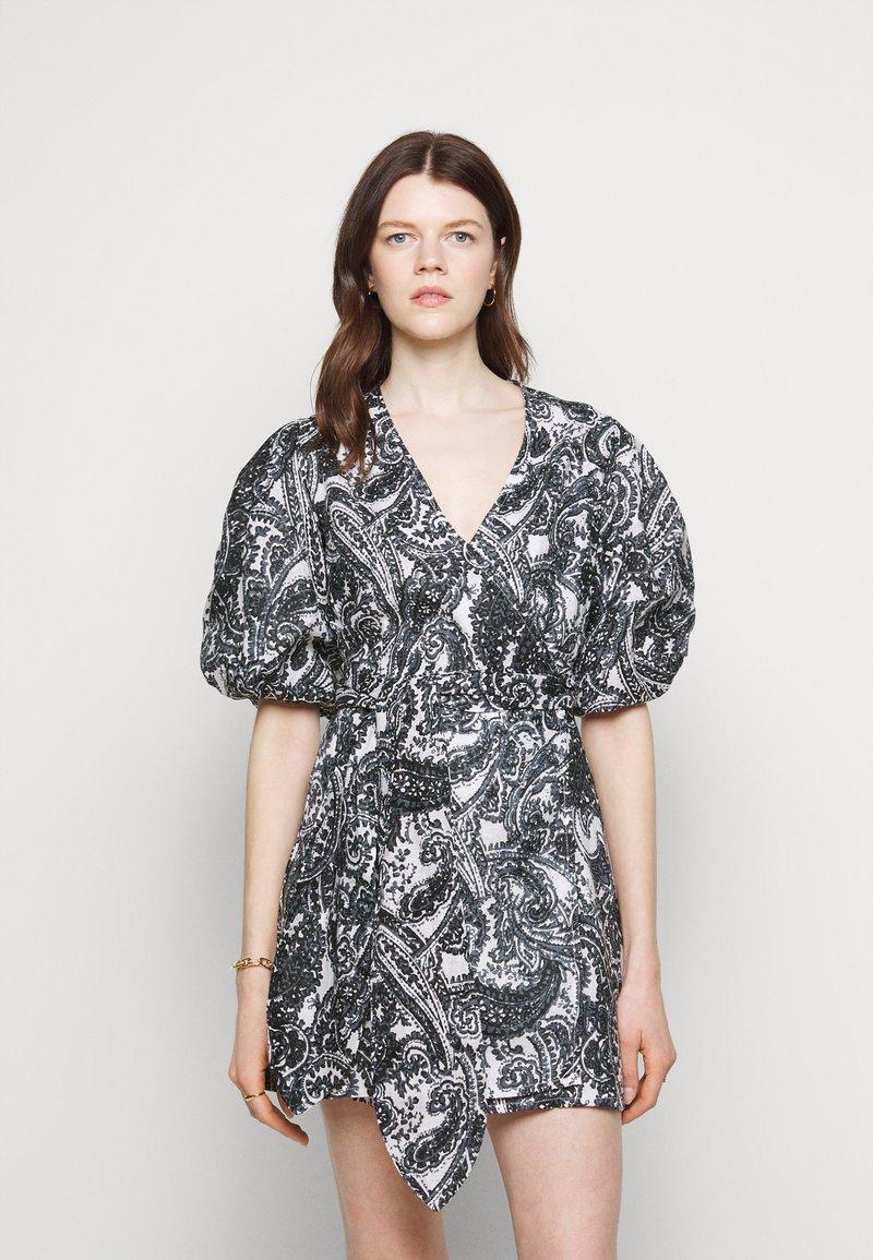 Faithfull the brand - GODIVA WRAP DRESS - Denní šaty - black