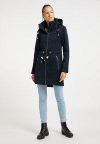 ICEBOUND - Short coat - dunkemarine melange - 1