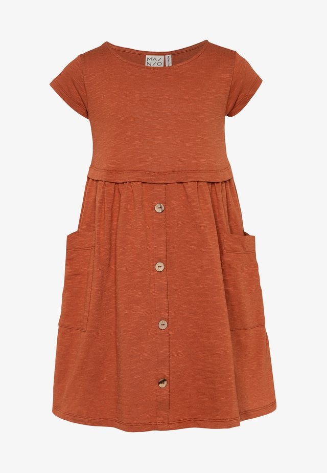 Jersey dress - bombay brown