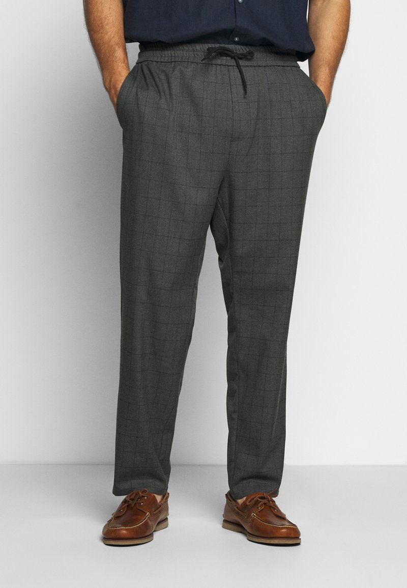 Only & Sons - ONSLINUS LONG CHECK - Trousers - medium grey melange