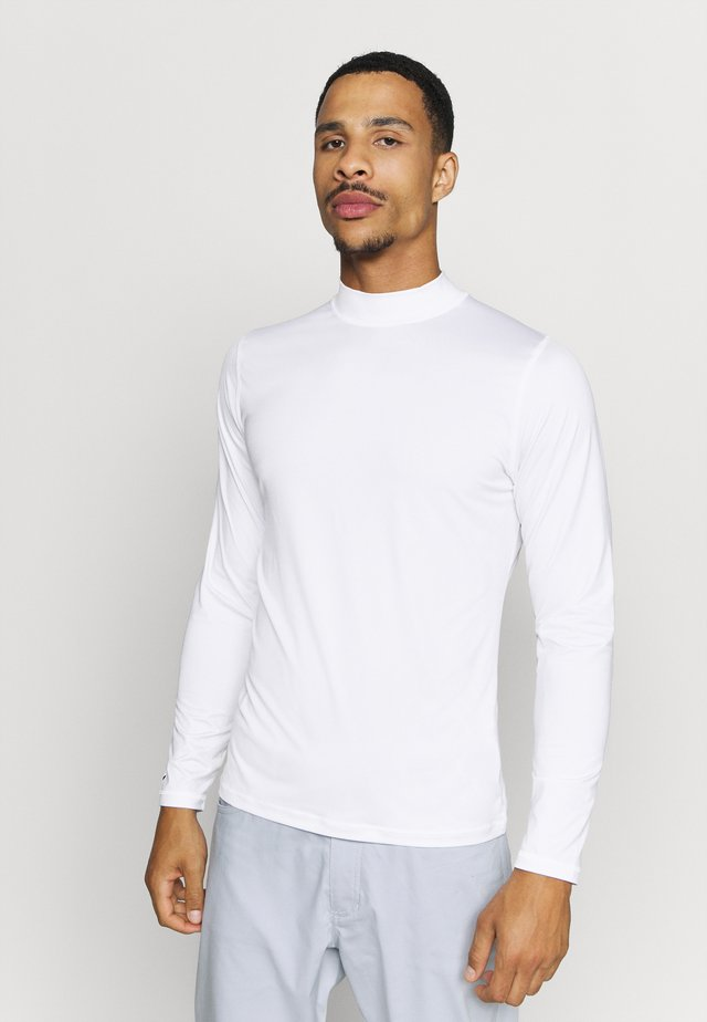 CREW NECK BASE LAYER - Sports shirt - bright white