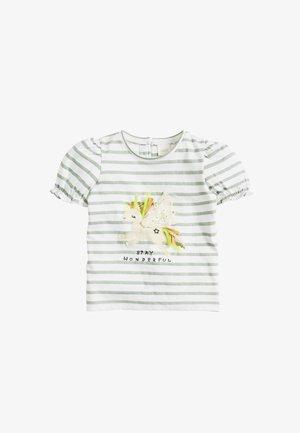 PUFF SLEEVE UNICORN  - T-shirt imprimé - green