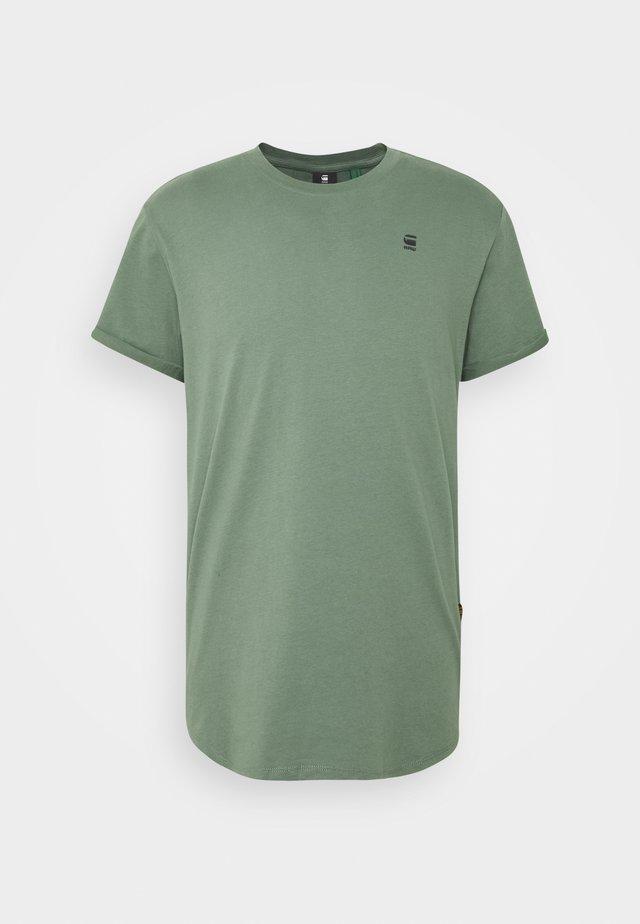LASH ROUND SHORT SLEEVE - Basic T-shirt - teal grey
