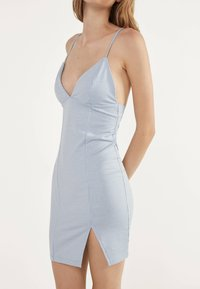 Bershka - MIT VICHYKAROS  - Day dress - light blue - 3