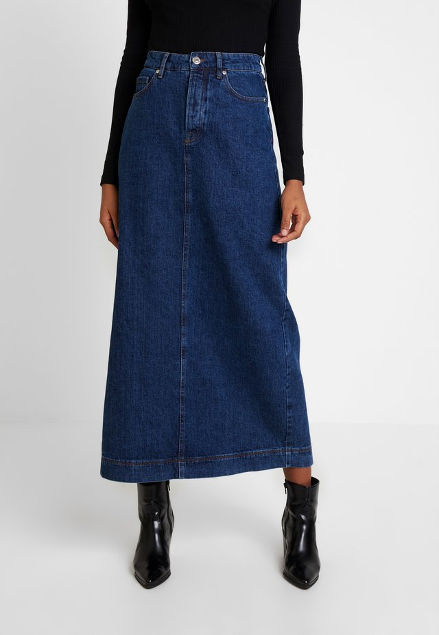 MANDELA SKIRT WASH OXFORD - Denim skirt - denim blue