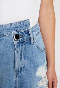 NGHTBRD - DESTROYED WRAPPED MINI - Denimová sukně - blue - 4