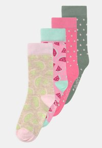 Ewers - MELON DOTS 4 PACK - Socks - glacier/rosa - 0