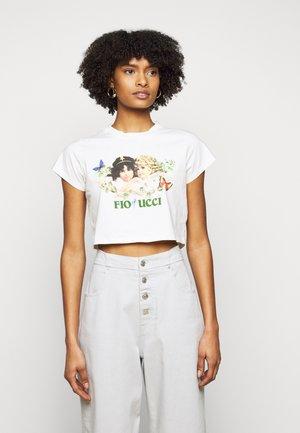 WOODLAND VINTAGE ANGELS BOXY TEE - T-shirt con stampa - birch